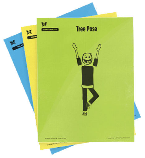 Large, Laminated Yoga Pose Cards
